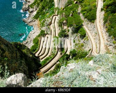 The beautiful Capri island, via Krupp in Italy