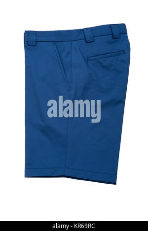 Short Blue Pants for Men - Stock Photo