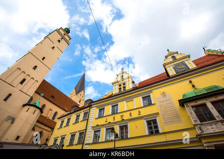Historic Architecture in Ingolstadt, Bavaria, Germany. - Stock Photo
