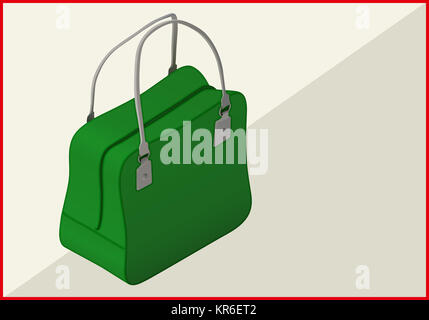 bag isometric flat vector 3d - Stock Photo