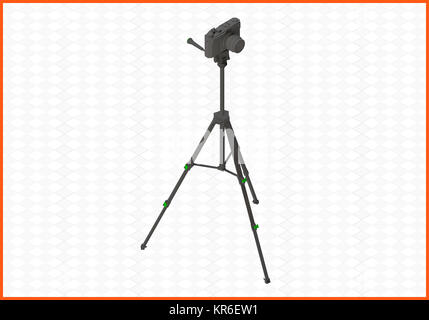tripod isometric flat vector 3d - Stock Photo