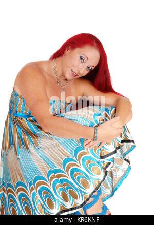 Beautiful woman in dress. - Stock Photo