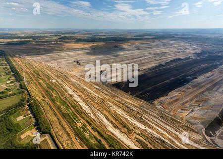 Opencast mine Hambach, RWE-Power AG, brown coal open pit, formerly Rheinbraun, largest opencast mine in Germany, - Stock Photo