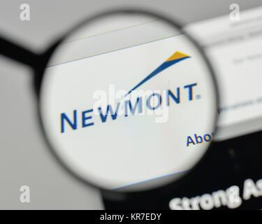Milan Italy November 1 2017 Newmont Mining Logo On The Website