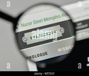 Milan Italy November 1 2017 Nucor Logo On The Website Homepage