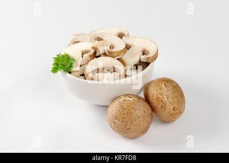 Sliced mushrooms - Stock Photo
