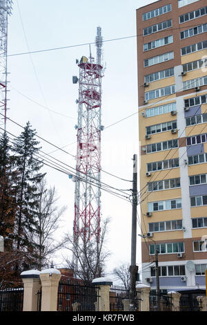 Transmission TV antenna - Stock Photo