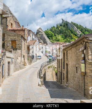 Scenic sight in Pietrapertosa, small village on the Lucanian Dolomites, province of Potenza, Basilicata, Italy. - Stock Photo