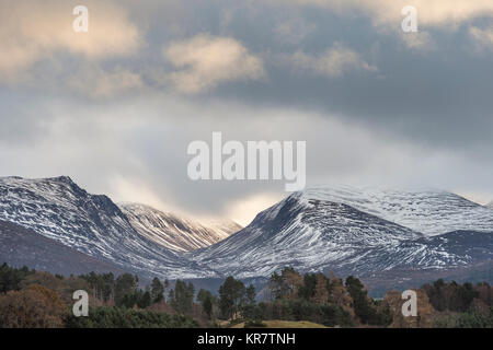 Lairig Ghru Mountain Pass in the Cairngorms National Park in Scotland. - Stock Photo