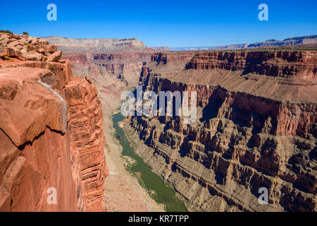 Toroweap Overlook, Grand Canyon National Park Arizona, USA.  It's 3000 feet above the Colorado River, straight drop - Stock Photo