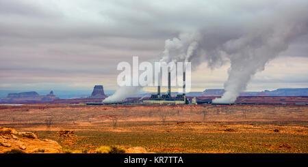 Navajo Coal Generating Station near Page, Arizona, USA. - Stock Photo