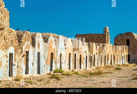 Ksar El Ferech in Tataouine Governorate, South Tunisia - Stock Photo