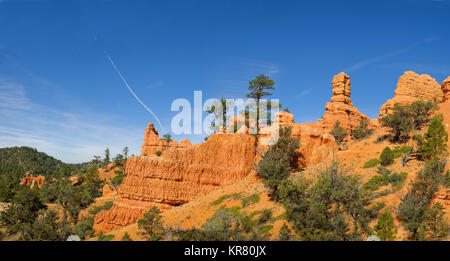 red rock formation in Cedar Breaks National Park, Utah - Stock Photo