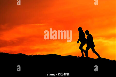 Couple going up - Stock Photo