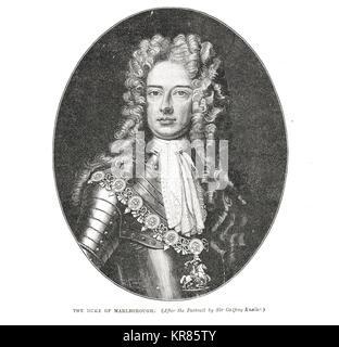 John Churchill, 1st Duke of Marlborough, 1650-1722 - Stock Photo