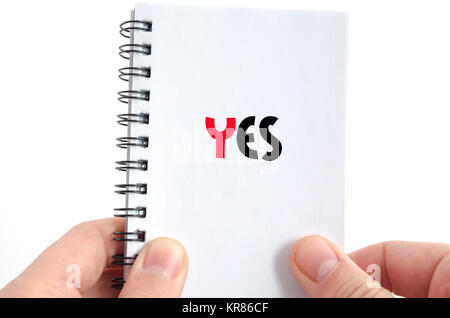 Yes text concept - Stock Photo