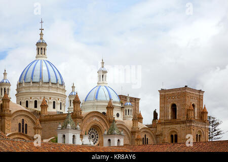 Cuenca Ecuador - The domes of theCathedral of the Immaculate Conception, commonly referred to as the New Cathedral - Stock Photo