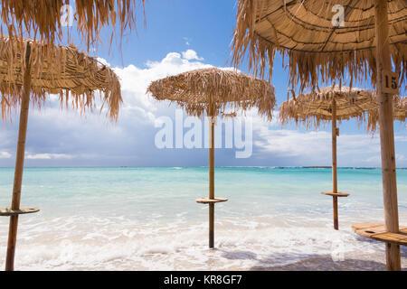 Elafonissi beach on Crete island, Greece. - Stock Photo