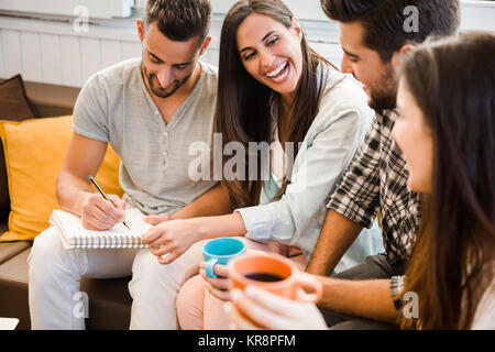 Meeting with friends - Stock Photo
