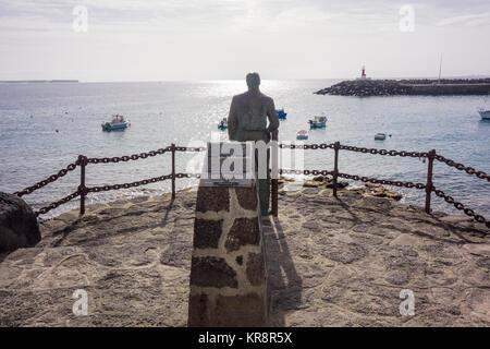 LANZAROTE, SPAIN -  7th Nov 2017: A statue of Ayuntamiento de Yaiza which was created by the artist Chano Navarro - Stock Photo