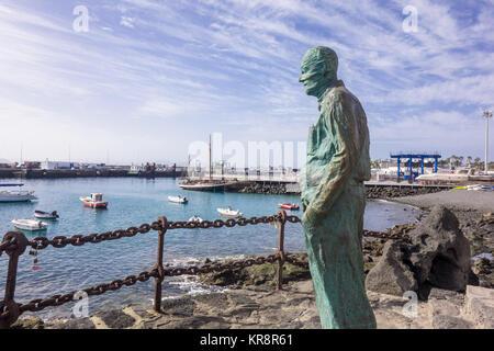 LANZAROTE, SPAIN-7th Nov 2017: Statue of Ayuntamiento de Yaiza was created by the artist Chano Navarro Betancor - Stock Photo