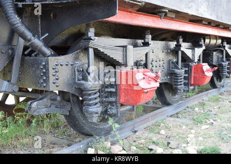 The old steam locomotive in open air museum - Stock Photo