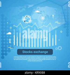 Stock Exchange Concept Business Web Banner With Copy Space - Stock Photo
