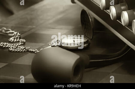 Dark Retro Sepia Background - Stock Photo
