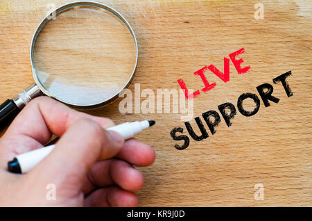 Live support text concept - Stock Photo