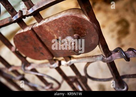 Close up of a key hole
