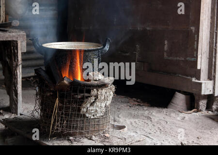 Cook with charcoal - Stock Photo