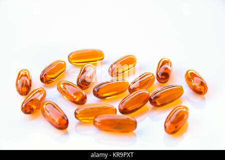 Lecithin supplement capsules - Stock Photo