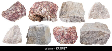 collection from specimens of Dolomite stone - Stock Photo