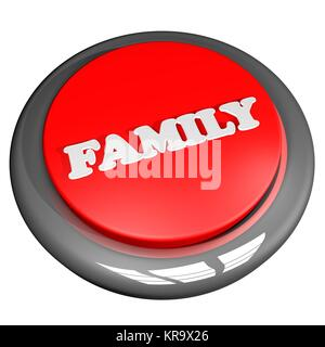 Family button isolated over white - Stock Photo