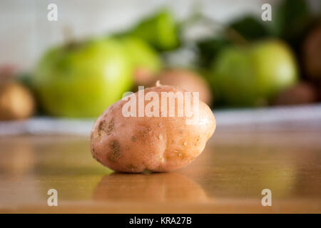 Closeup of the potato in the kitchen - Stock Photo