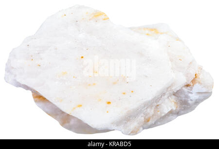 stone of barite ore isolated on white - Stock Photo
