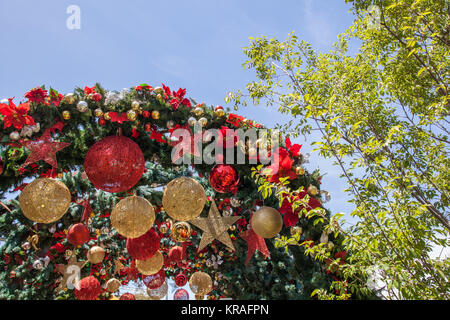 Melbourne, Australia - December 16, 2017: Christmas decorations at Federation Square - Stock Photo