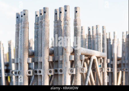 stack of construction scaffolding elements - Stock Photo