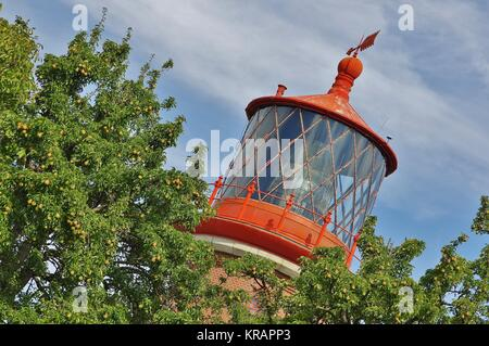 fehmarn island,lighthouse staberhuk - a well known landmark in a different way ... - Stock Photo