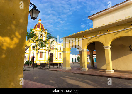 Colonial Architecture in Mompox, Colombia - Stock Photo