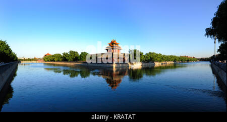 The Imperial Palace watchtower in Beijing - Stock Photo