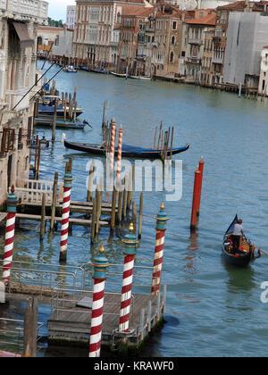 Venice - Grand Canal near the bridge Academia - Stock Photo
