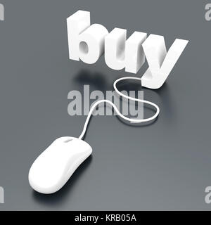 Buy online. 3D rendered Illustration. - Stock Photo