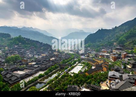 Qianhu Miao Village of Kaili City,Guizhou province,China - Stock Photo