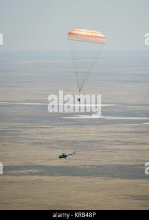 The Soyuz TMA-03M spacecraft is seen as it lands with Expedition 31 Commander Oleg Kononenko of Russia and Flight - Stock Photo
