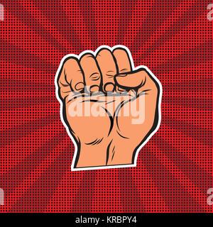Pop art retro fist - Stock Photo