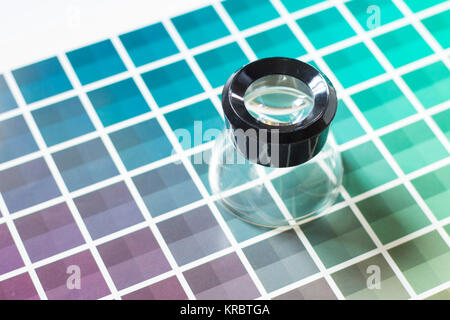 Magnifier On A Color Chart Stock Photo 169291133 Alamy