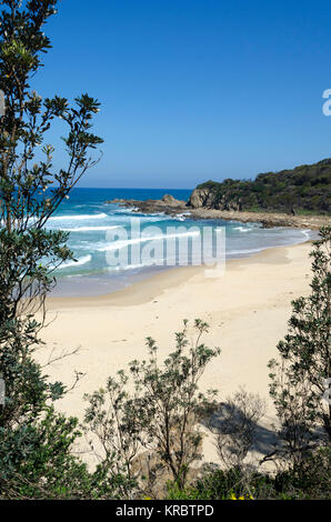 Piccaninny Beach, Potato Point, New South Wales, Australia - Stock Photo