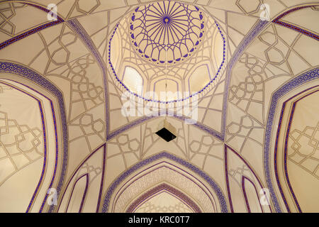 A Colourful Interior Inside A Mosque At The Memorial Complex Of Chor Bakr, Bukhara, Uzbekistan - Stock Photo