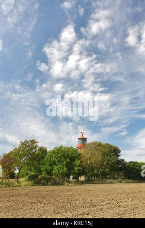 lighthouse staberhuk,insel fehmarn - Stock Photo